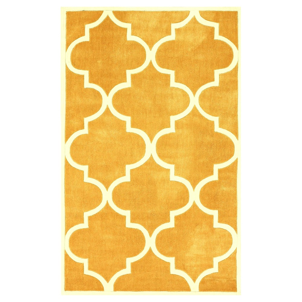 nuLOOM Polyester Hand Tufted Fez Area Rug – Yellow (10′ x 14′)