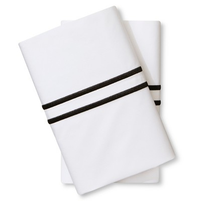 Supima Hotel Pillowcase Set (Standard)Black - Fieldcrest™
