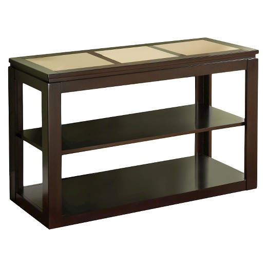 Sun pine richmond contemporary sofa table espresso target for Furniture of america sofa table