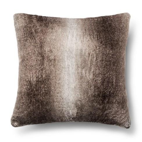 Brown Fur Throw Pillows : Faux Fur Euro Pillow - Brown - Fieldcrest : Target