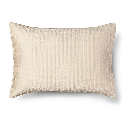 Tonal Stitch Sham Standard - Cream - Fieldcrest™