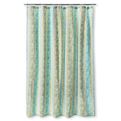 Shower Curtain Vertical Print Green - Threshold™