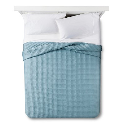 Tonal Stitch Quilt King - Aqua - Fieldcrest™