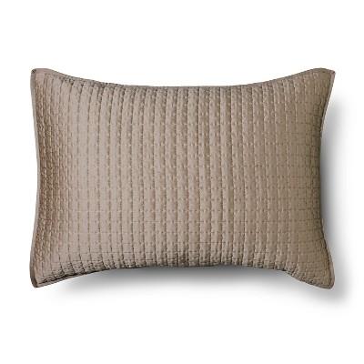 Tonal Stich Sham Standard - Brown - Fieldcrest™