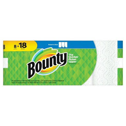 Bounty Select-a-Size Paper Towels - 8 Bulk Rolls - image 1 of 5