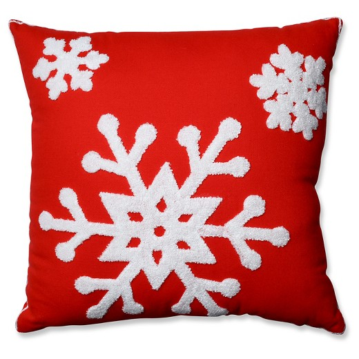 Target Clearance Throw Pillow : Pillow Perfect Snowflake Throw Pillow - Red (16.5