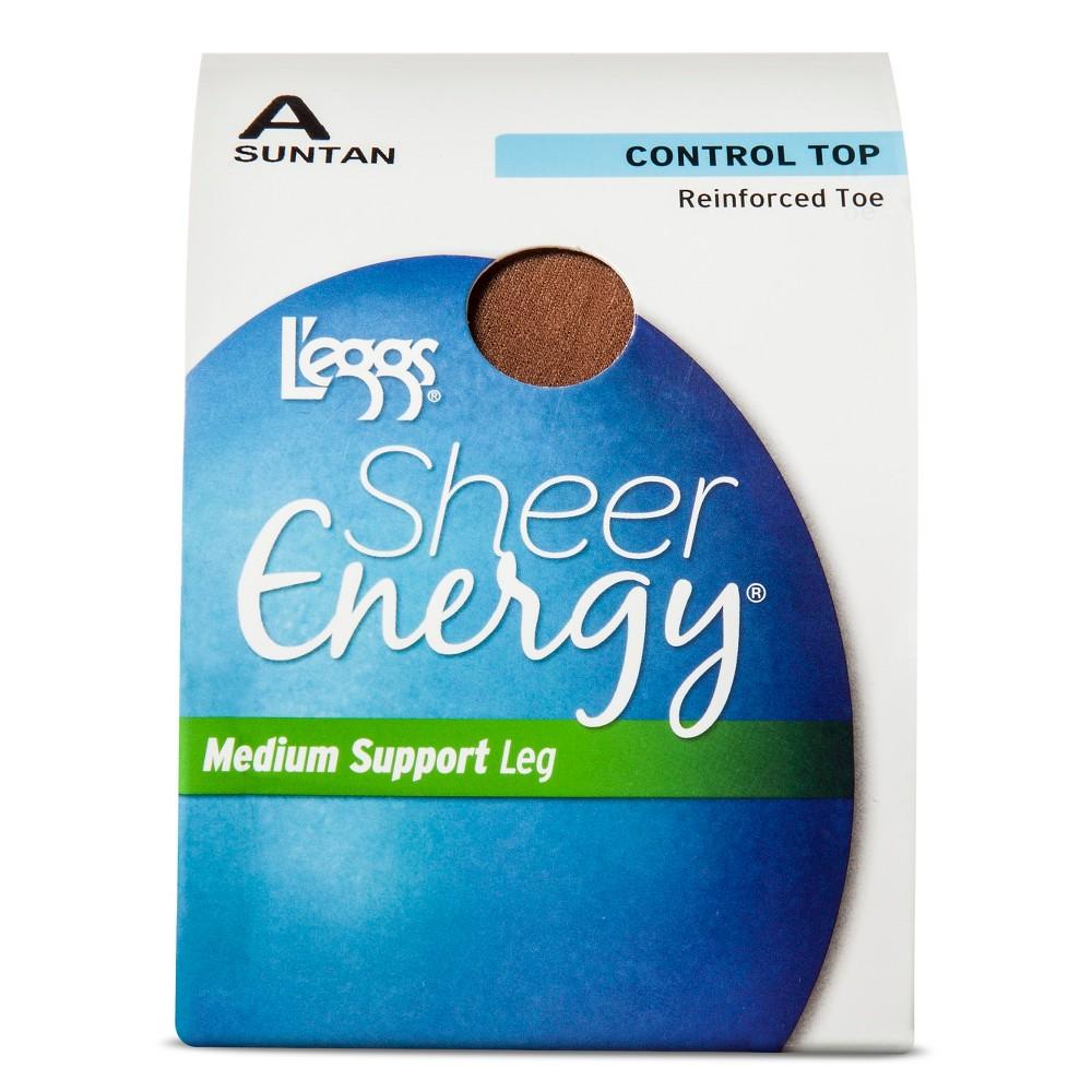 Leggs Womens Energy Control Top Pantyhose - Suntan A, Brown