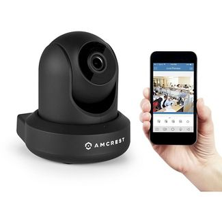 Amcrest ProHD 1080P WiFi Video Monitoring Security Wireless IP Camera with Pan/Tilt, Two-Way Audio, Plug & Play Setup, Optional Cloud Recording, Full HD 1080 - Black