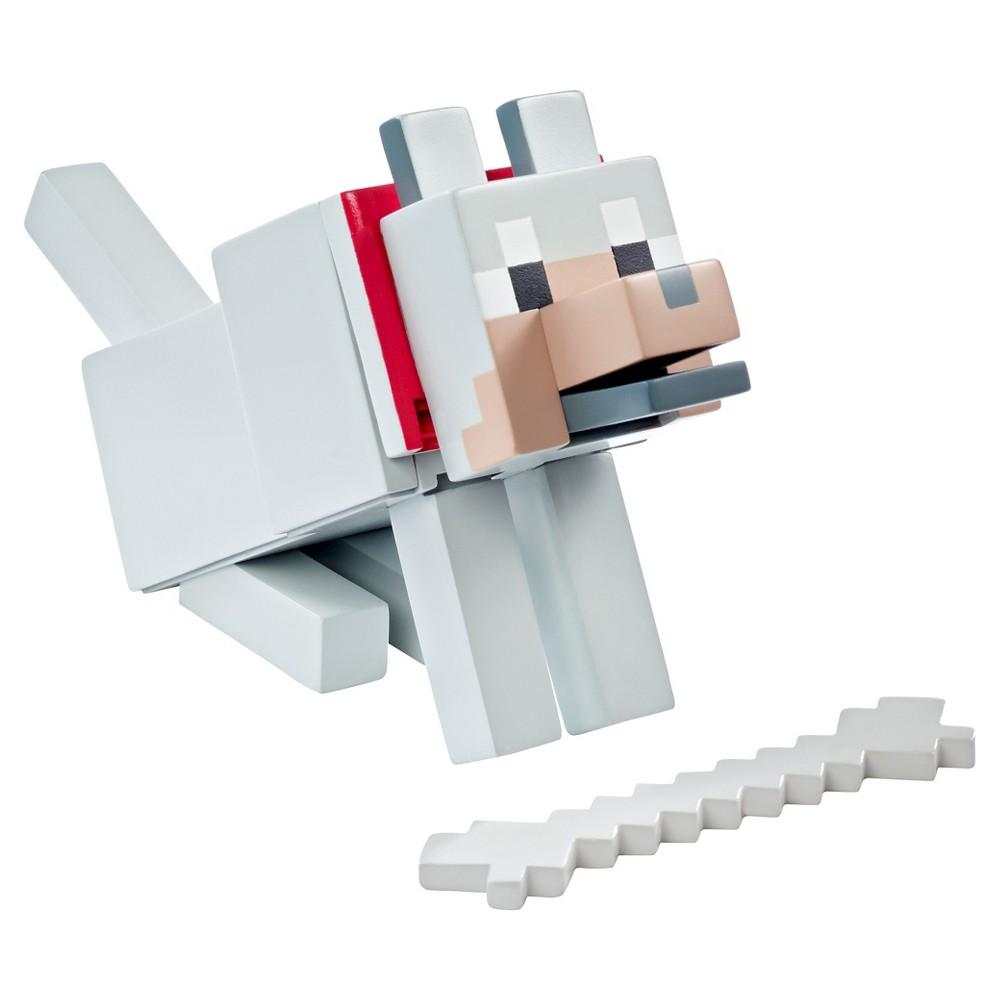 Minecraft Wolf with Bone 5 Figure