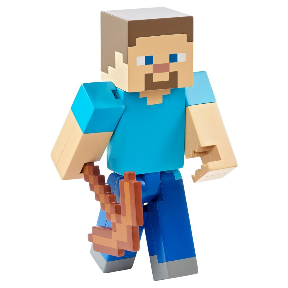 Minecraft Swinging Pick Axe Steve 5 Figure