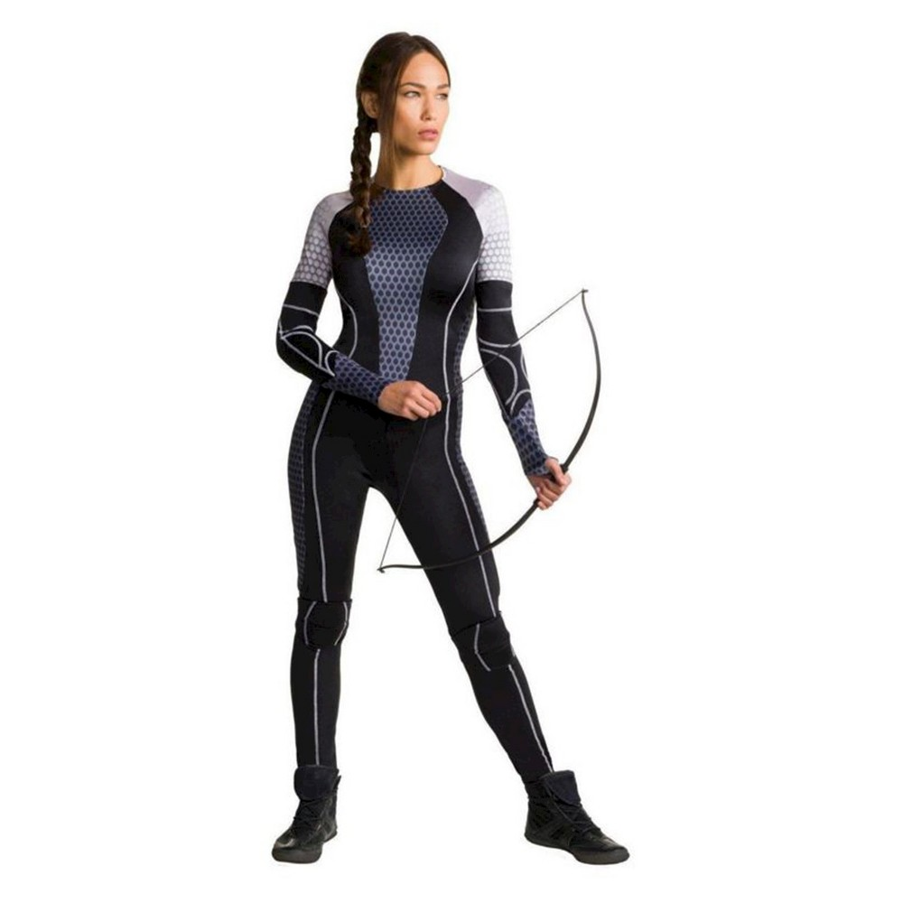 Womens Hunger Games: Catching Fire Katniss Costume Black - Large