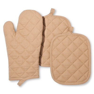 3pk TanSolidKitchen textile set- Room Essentials™
