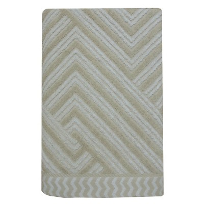 Sculpted Accent Bath Towel White/Creamy Chai - Nate Berkus™