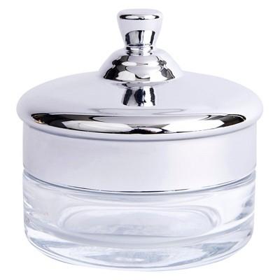West Emory™ Glass Jewelry Jar - Silver