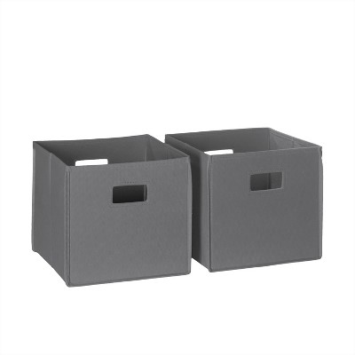 RiverRidge® Folding Storage 2 Pc Bin Set - Gray