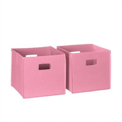 RiverRidge® 2 Piece Folding Storage Bin Set - Pink