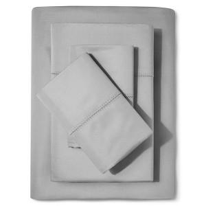 Supima Classic Hemstitch Sheet Set (Cal King) Skyline Gray 700 Thread Count - Fieldcrest