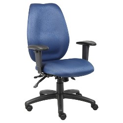 High Back Task Chair with Seat Slider Blue - Boss Office Products