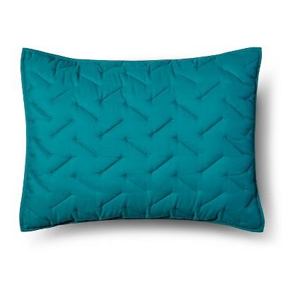 Blue High Rise Stitch Pillow Sham (Standard)- Room Essentials™
