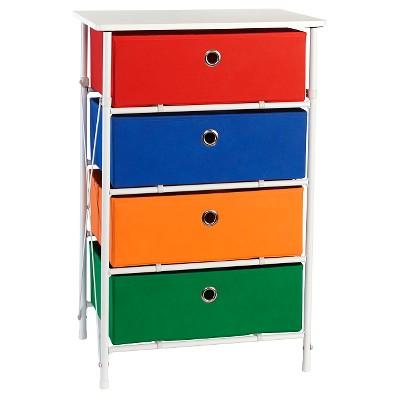 RiverRidge® Sort and Store - Kids 4-Bin Organizer - Primary Colors