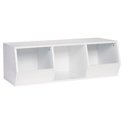 RiverRidge® Storage Stacker with 2 Veggie Bins and 1 Cubby - White