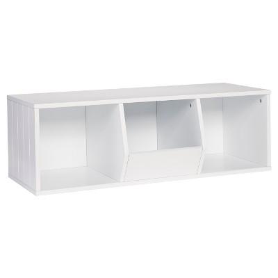 RiverRidge® Storage Stacker with 1 Veggie Bin and 2 Cubbies - White