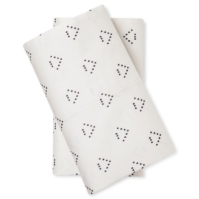 Pillowcase Set (Standard)Triangle Cream 300 Thread Count - Nate Berkus™