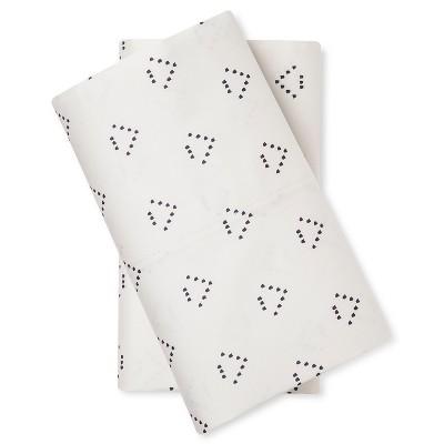 Pillowcase Set (King)Triangle Cream 300 Thread Count - Nate Berkus™