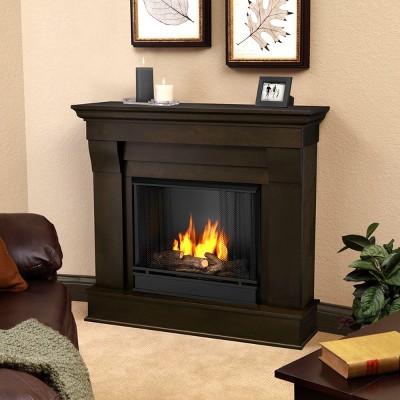 Real Flame - Chateau Gel Fireplace-Dark Walnut