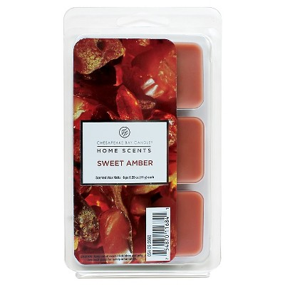 6pk Wax Melts Sweet Amber - Home Scents by Chesapeake Bay Candle®