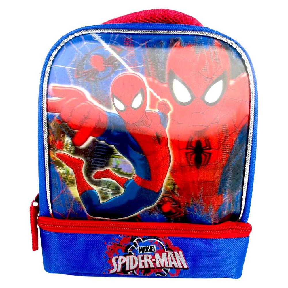 Spider-Man 7.5 3D Drop Bottom Lunch Bag - Blue