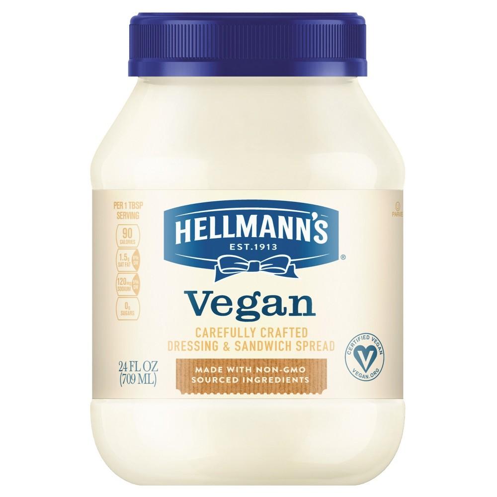 Hellmann's Vegan Dressing and Sandwich Spread Carefully C...