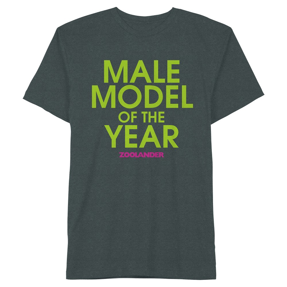 Mens Zoolander Male Model T-Shirt Black Mint Duo Dye Medium