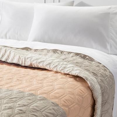 Color Block Quilt Full/Queen Brown - Room Essentials, Posh Brown