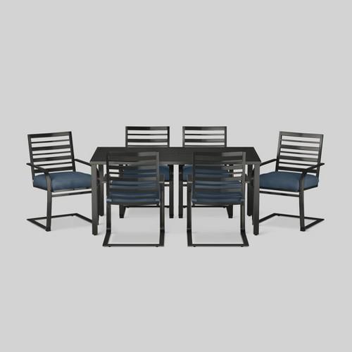 Ft. Walton 7-Piece Motion Patio Dining Set - Navy (Blue) - Threshold