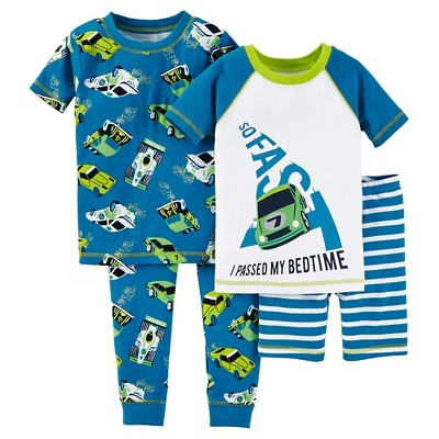 Just One You™ Made by Carter's® Baby Boys' Snug Fit Cotton 4pc Pajama Set -