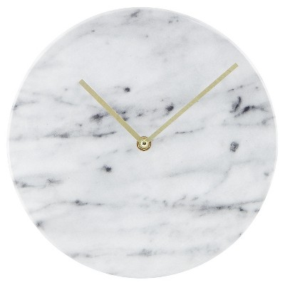 Faux-Marble Wall Clock White 10  - Threshold™