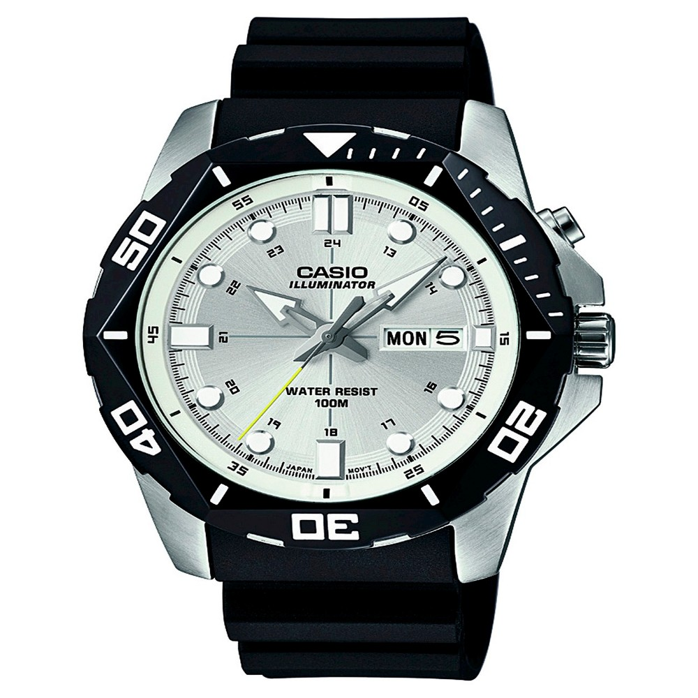 Casio Mens Performance Stainless Steel Wristwatch - Black