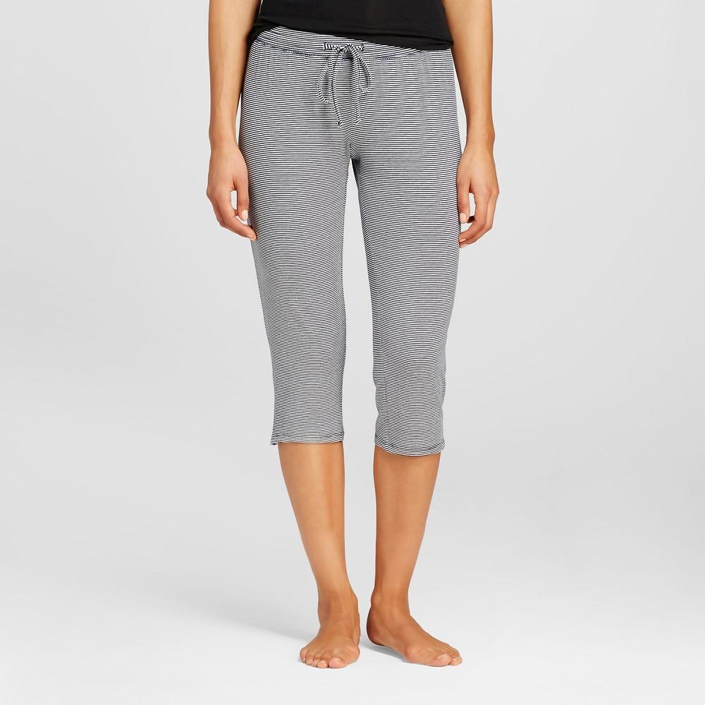 Womens Pajama Total Comfort Crop Pants - Navy Stripe Xxl, Blue