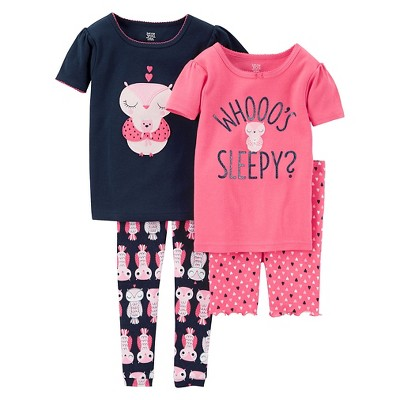 Just One You™ Made by Carter's® Baby Girls' Snug Fit Cotton 4pc Pajama Set - 12M