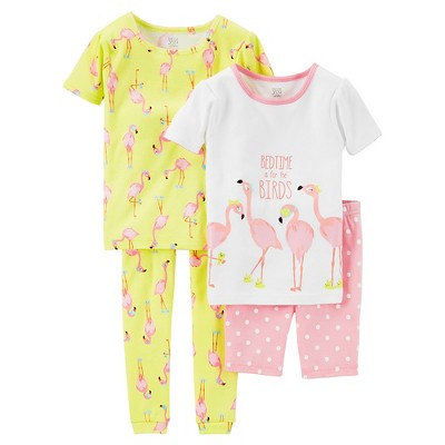 Just One You™ Made by Carter's® Baby Girls' Snug Fit Cotton 4pc Pajama Set - 9M