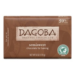 Dagoba® Semisweet Organic Chocolate Baking Bars - 6oz