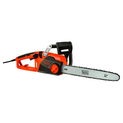 BLACK+DECKER™ 18  15 Amp Corded Chainsaw with Tool Free Tensioning and Oregon Bar and Chain - CS1518
