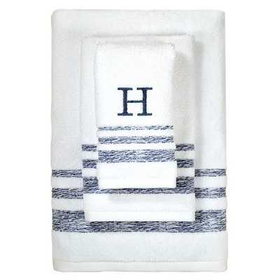 Monogram Hand Towel - White - (H) - Threshold