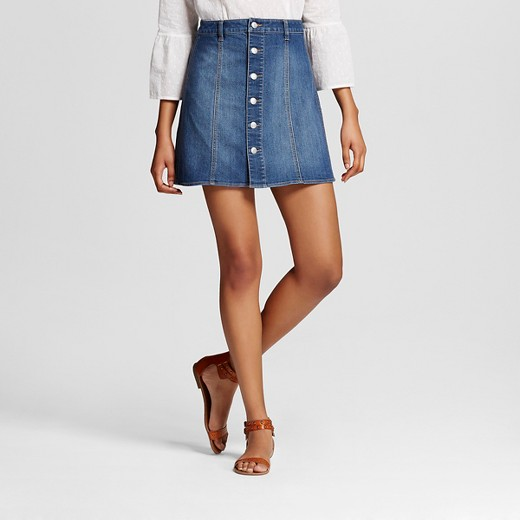 Women's Button Front Skirt - Mossimo Supply Co.™ (Juniors') : Target