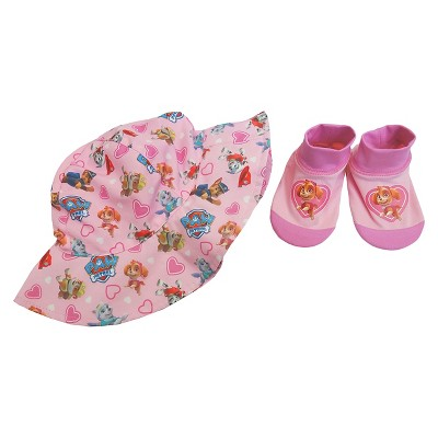 Paw Patrol Baby Girls' Swim Hat/Aqua Socks Set - Pink 0-12M