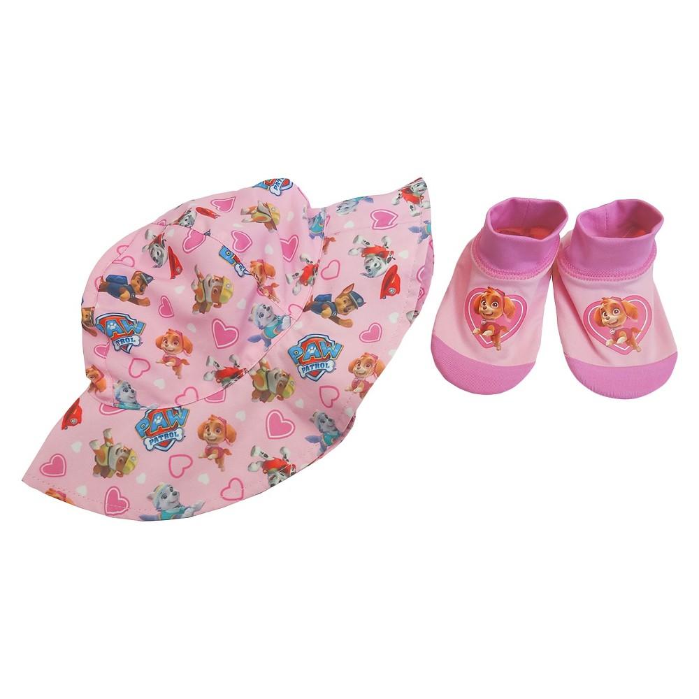 Paw Patrol Baby Girls Swim Hat/Aqua Socks Set - Pink 0-12M
