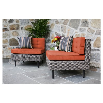 aimee pair of armless chairs with sunbrella - Sunbrella Furniture