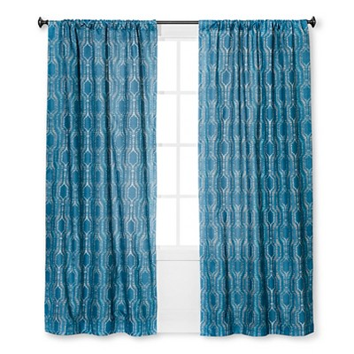 Braxton Thermaback Light Blocking Curtain Panel Navy (42 x84 )- Eclipse™