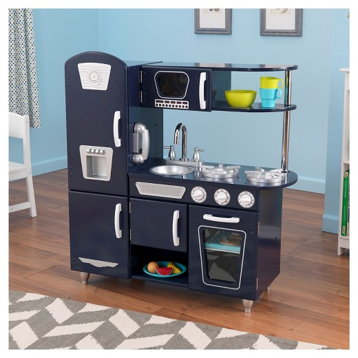 Kidkraft Retro Kitchen Blue kidkraft navy vintage kitchen : target